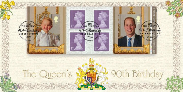 Self Adhesive: H M The Queen's 90th Birthday 2, Prince George & Prince William