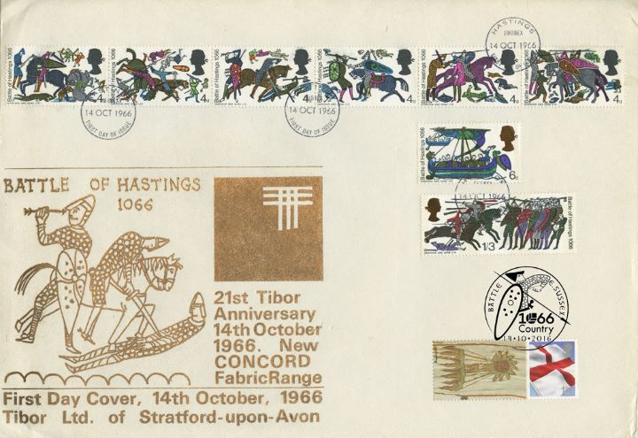 Battle of Hastings [Commemorative Sheet], Double Dated Cover