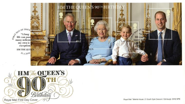 H M The Queen's 90th Birthday: Miniature Sheet, 90th Birthday