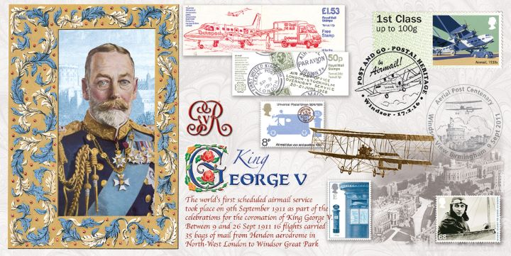 Royal Mail Heritage, George V - First Air Mails