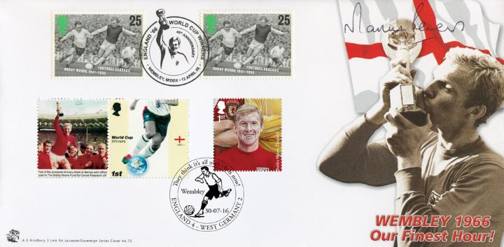 50th Anniversary of the 1966 World Cup, Bobby Moore kissing the World Cup