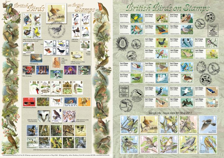 Songbirds, British Birds on Stamps