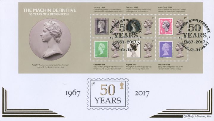 Machin Design Icon: Miniature Sheet, Design Development