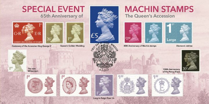 65th Anniversary of Queen's Accession, Special Event Machin Stamps