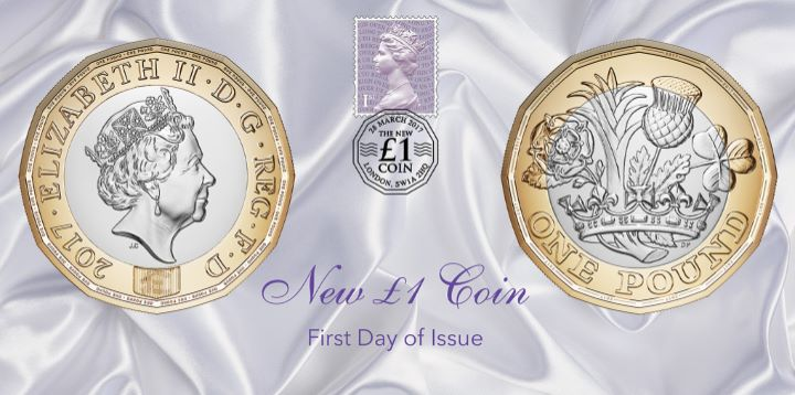 The New £1 Coin Design, First Day of Issue