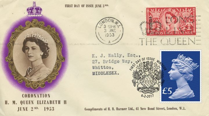 65th Anniversary of Queen's Accession, Original 1953 Coronation Covers