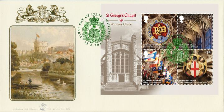 Windsor Castle: Miniature Sheet, Windsor Castle & Coat of Arms