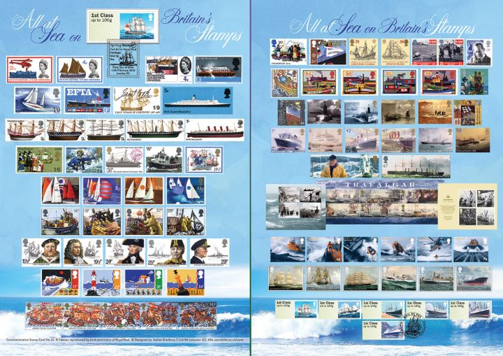 Mail by Sea, All at Sea on Royal Mail Stamps