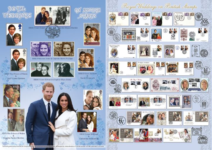 Royal Wedding: Miniature Sheet, Harry and Meghan and past Royal Weddings