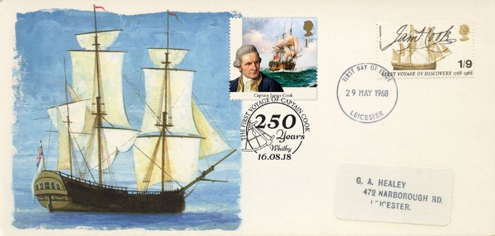 Captain James Cook, Double-dated cover No.5