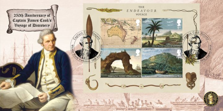 Captain James Cook: Miniature Sheet, Captain James Cook