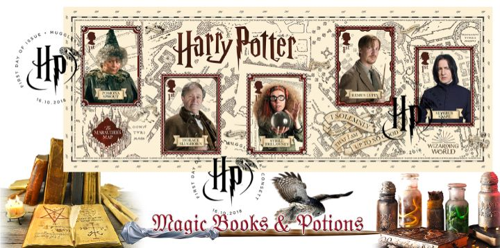 Harry Potter: Miniature Sheet, Magic Books and Potions