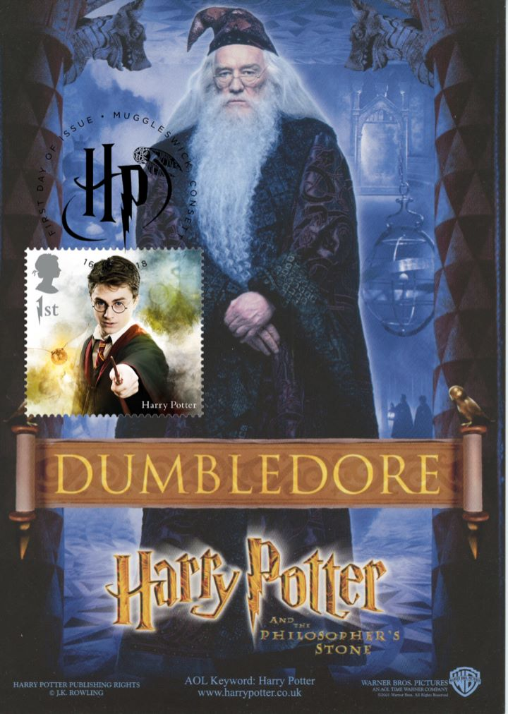 Harry Potter, Dumbledore promotion postcard