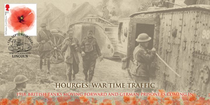 The Great War, Hourges British Tanks Moving Forwards