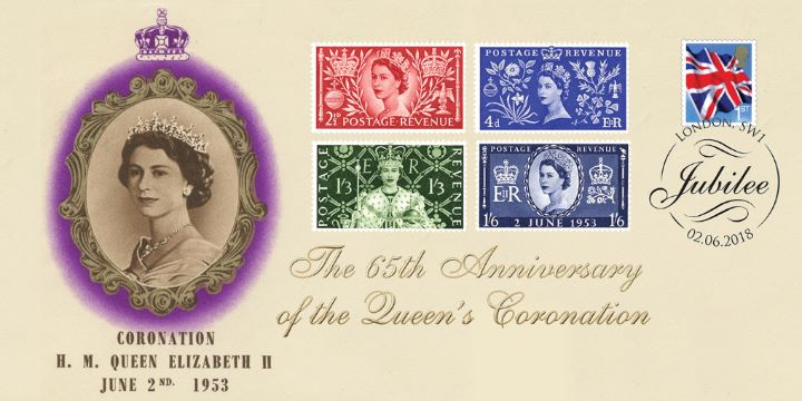 65th Anniversary of the Queens Coronation, Coronation Stamps