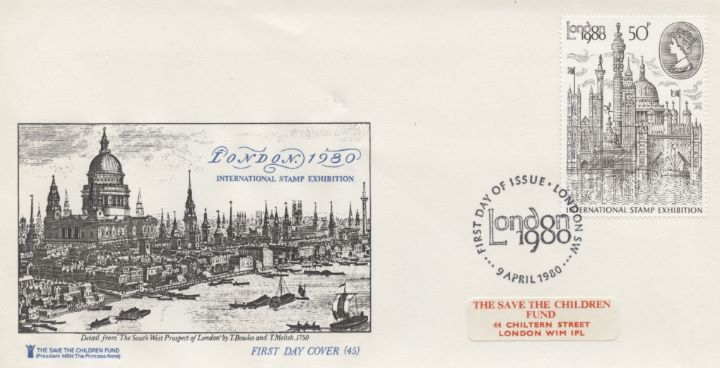 London 1980: 50p Stamp, Save the Children Fund
