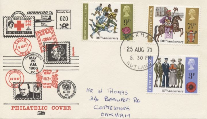 General Anniversaries 1971, Philatelic Cover