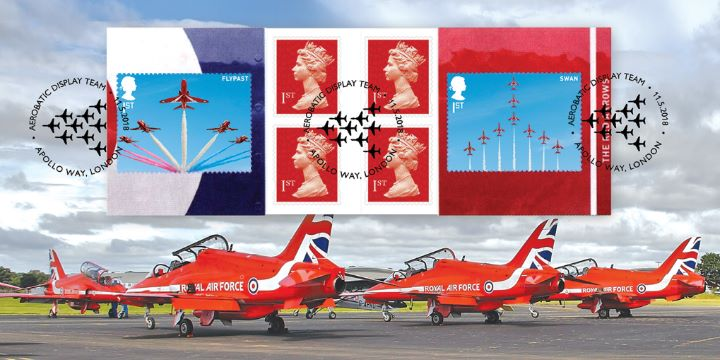 Self Adhesive: RAF Centenary, Red Arrows - RAF Stamp Book 2