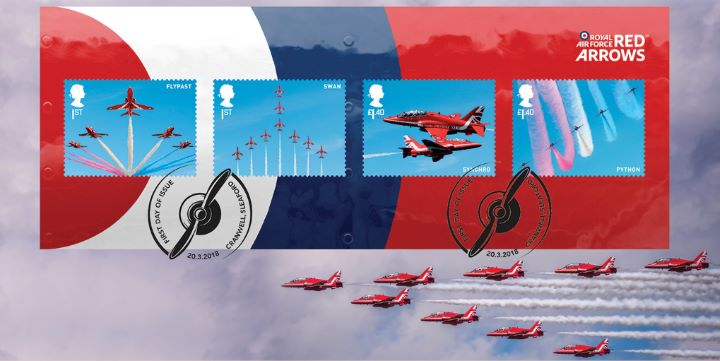 RAF Centenary: Miniature Sheet, Red Arrows