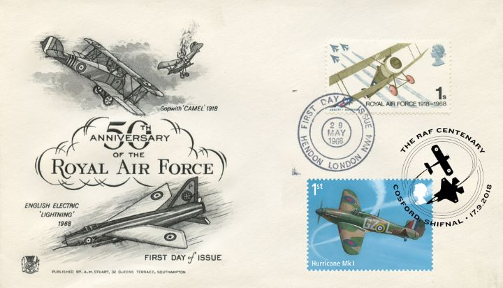 Centenary of the RAF, Double-dated 50th Anniversary 02