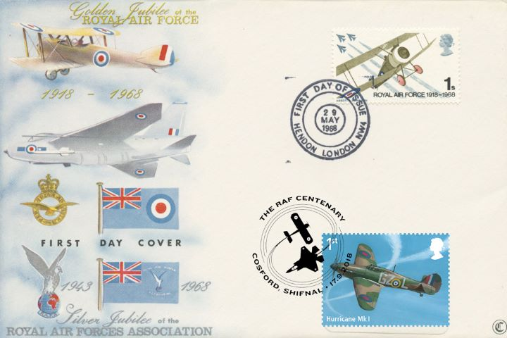 Centenary of the RAF, Double-dated 50th Anniversary 06