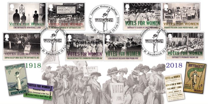 Votes for Women, Suffragettes on the March
