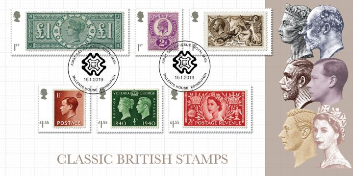 Stamp Classics: Miniature Sheet, Six Reigns