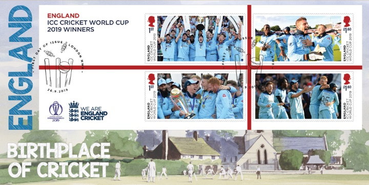 Cricket World Cup: Miniature Sheet, England - Birthplace of Cricket