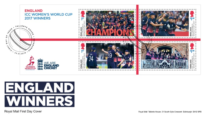 Women's Cricket World Cup: Miniature Sheet, England Winners