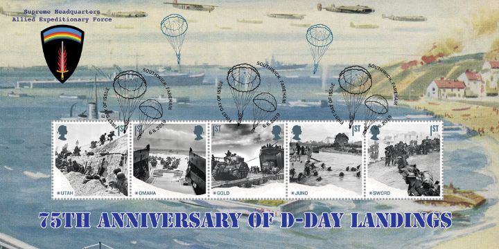 D-Day: Miniature Sheet, Beach Landings