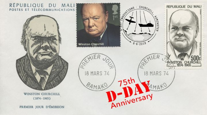 D-Day, Double-dated Churchill cover