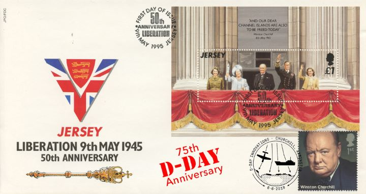 D-Day, Liberation of Jersey Double dated cover