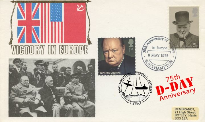 D-Day, VE Day and DDay double postmarked