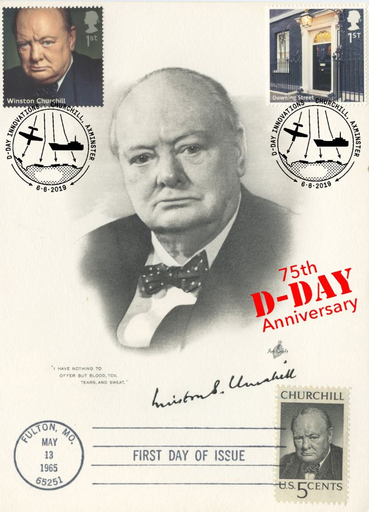 D-Day, Portrait of Churchill