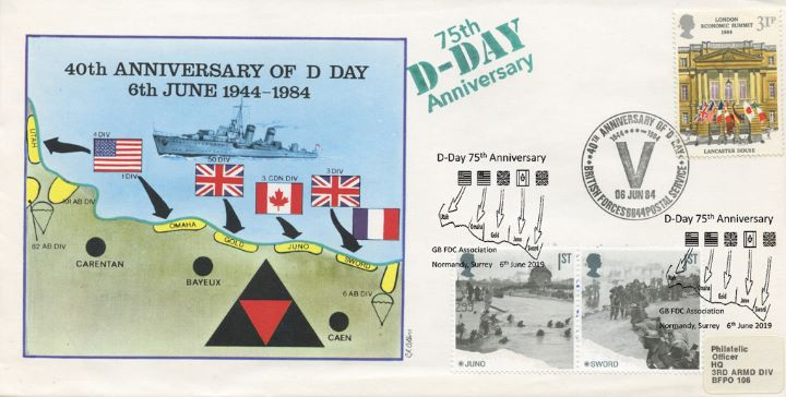 D-Day, 50th/75th Anniversaries Double Dated
