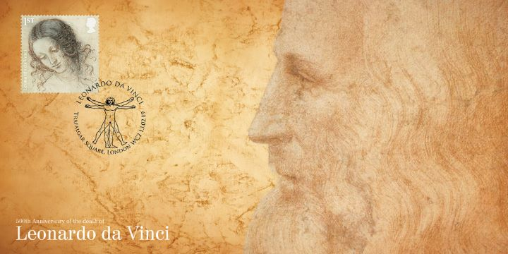 Leonardo da Vinci, Single stamp cover