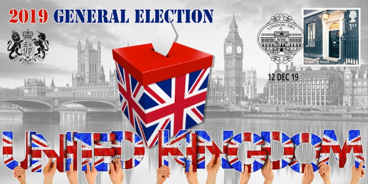 General Election, Ballot Box and Houses of Parliament