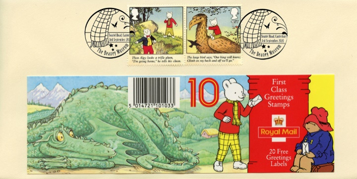 Rupert Bear, Rupert receives a letter by post box