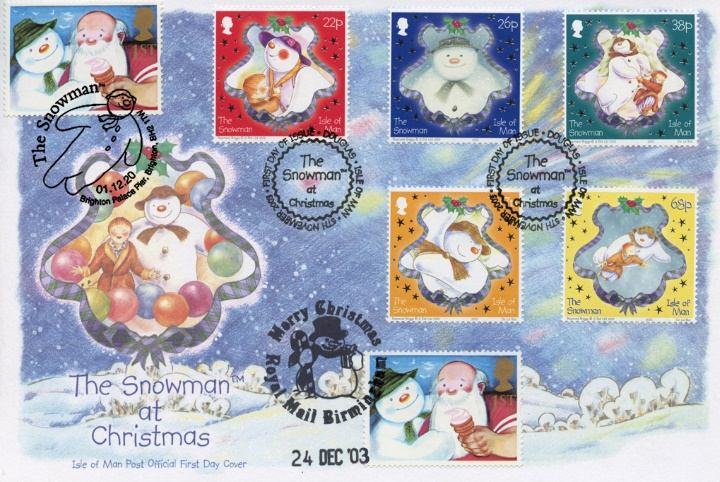 The Snowman Triple Postmarks, The Snowman at Christmas
