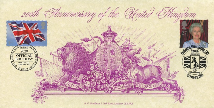 200th Anniversary of the United Kingdom, Queen's Official Birthday