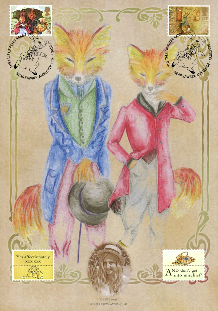 Freddie and Felicity Fox, Peter Rabbit Special Postmark