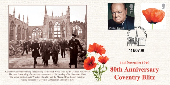 80th Anniversary of Coventry Blitz, Churchill at Cathedral