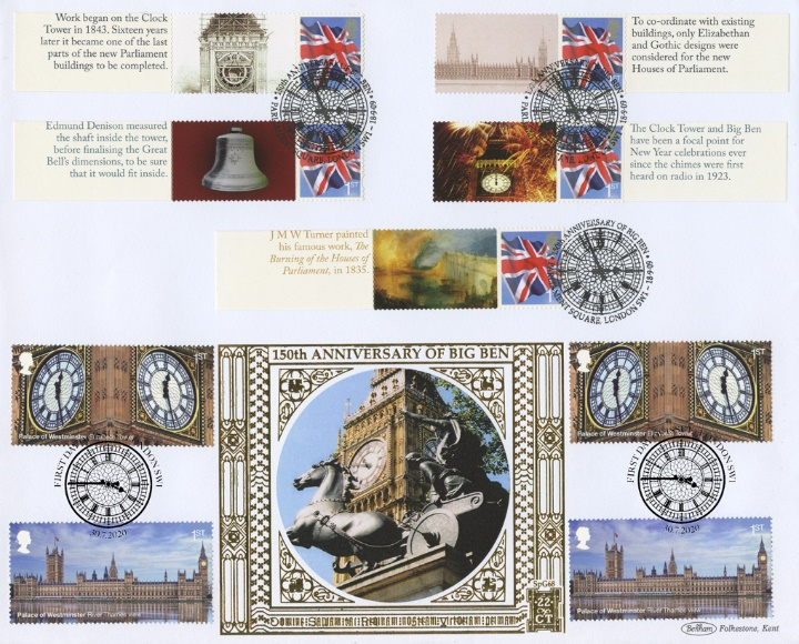 Palace of Westminster, Big Ben Double Dated Cover