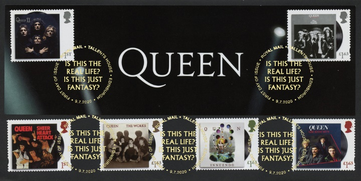 Queen, Stamp Sheet Header