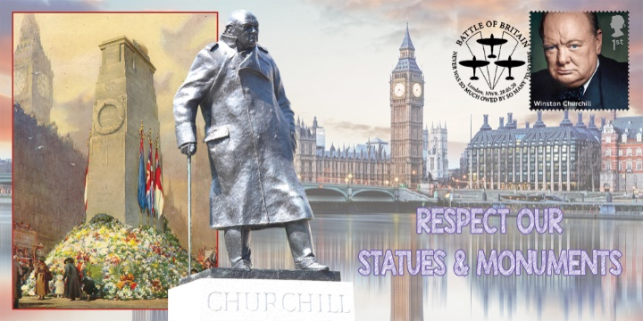 Respect our Statues & Monuments, Churchill, Parliament and Cenotaph