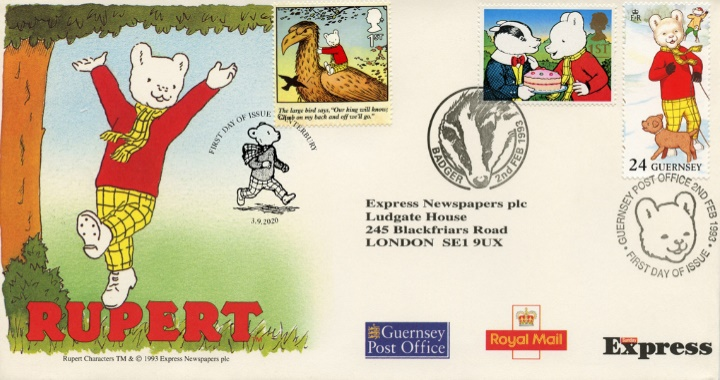 Rupert Bear, Rupert Treble Postmarked