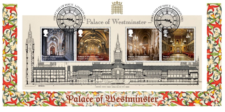 Palace of Westminster: Miniature Sheet, Architect's Drawing