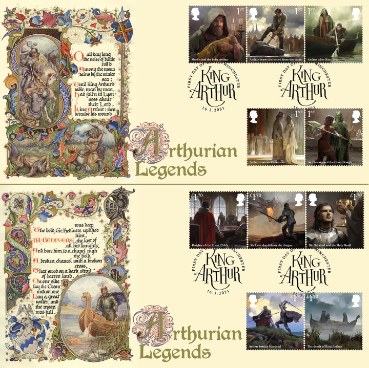 King Arthur, Arthurian Legends - Pair of Covers