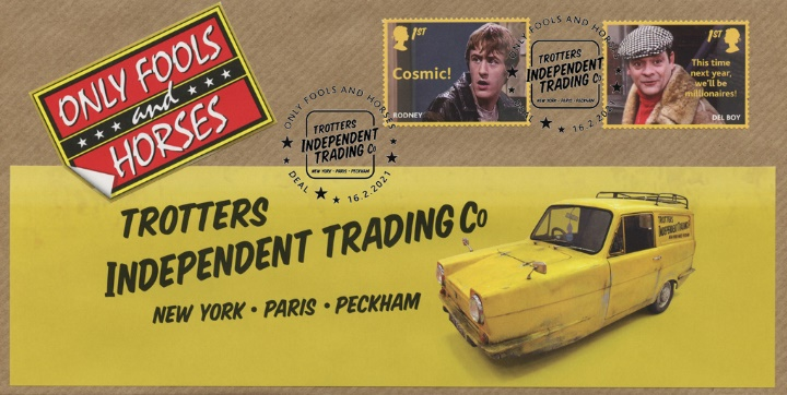 Only Fools and Horses: Generic Sheet, Robin Reliant with  Rodney and Del Boy