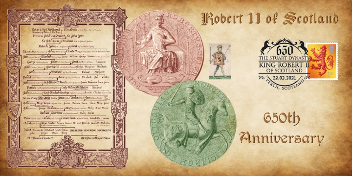 Robert II of Scotland, 650th Anniversary of the Stuart Dynasty